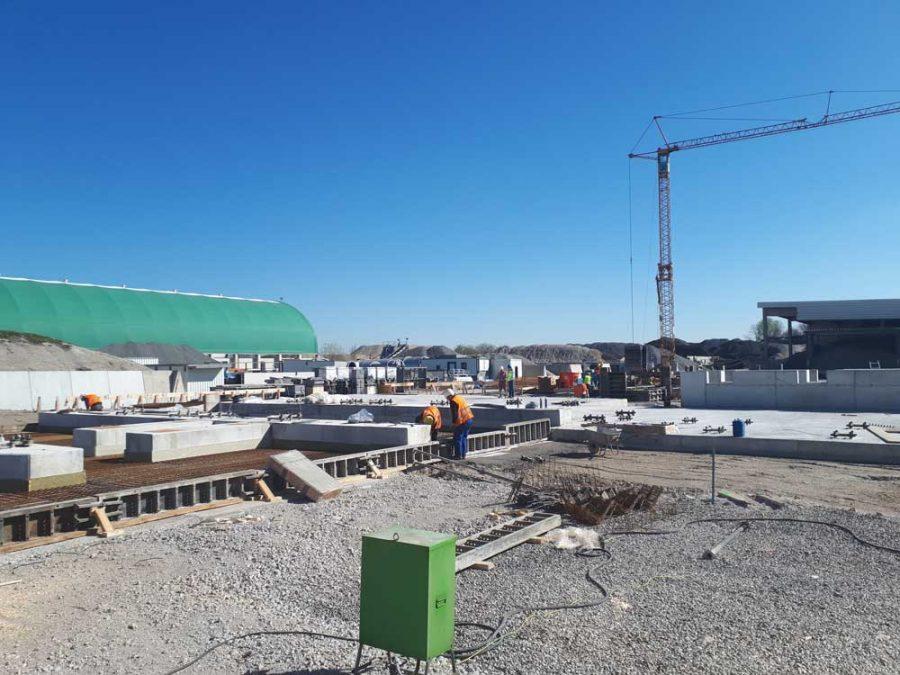 Fundamentarbeiten Asphaltmischanlage in Aschheim