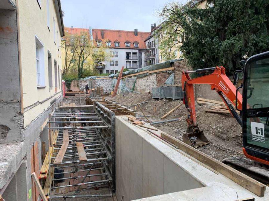 Sanierung Rückgebäude, Schulstr. 13 u. 15