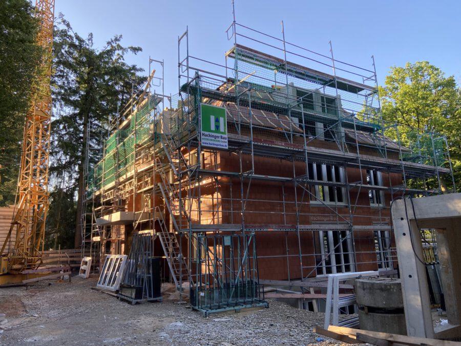 Baustelle Grünwald fertiggestellter Rohbau