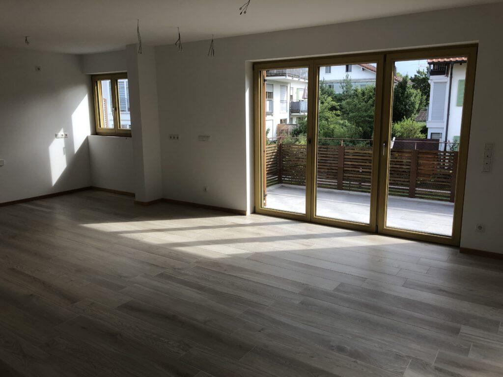Bauträgerobjekt Wohnzimmer Oberhaching